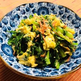 レシピ ~大根葉の卵とじ~